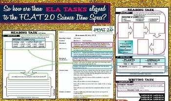 Interactive Science Notebook Grade 3 ELA & LIFE Science Blended Tasks
