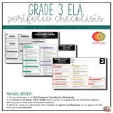 Grade 3 ELA Portfolio Checklists ~ CCSS Overview & Checklists