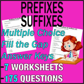 ELA Worksheets | Prefixes & Suffixes | Grammar Questions | Grade 3 Test Prep