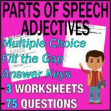 ELA Worksheets   Parts of Speech   Adjectives   Grade 3 Test Prep