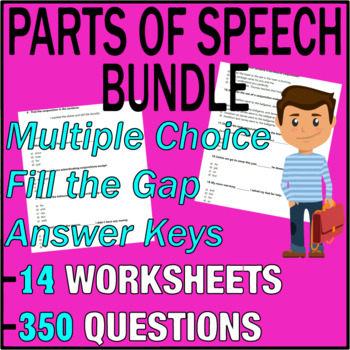 ELA Worksheets   Parts of Speech Bundle   Grammar Questions   Grade ...