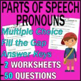ELA Worksheets   Parts of Speech   Pronouns   Grade 3 Test Prep