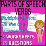 ELA Worksheets   Parts of Speech   Verbs   Grade 3 Test Prep