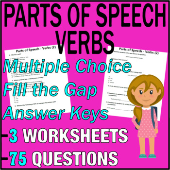 ELA Worksheets | Parts of Speech | Verbs | Grade 3 Test Prep
