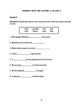 Grade 3 ELA Worksheets