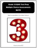 Grade 3 EQAO Prep - Multiple Choice Math Assessments - with answers