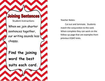 Grade 3 EQAO Writing Test Prep Activity Centers