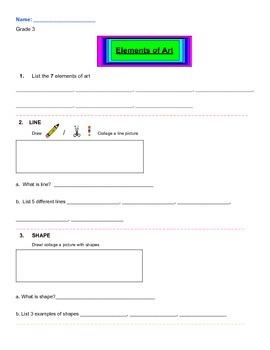 Grade 3 Element of Art Review