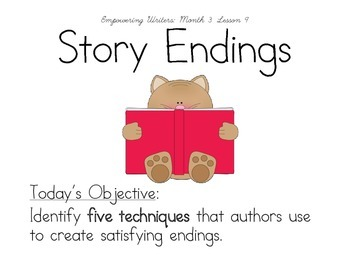 Gr. 3 Empowering Writers Supplement: Month 3 Lesson 9
