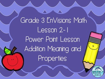 Grade 3 EnVisions Math Lesson 2-1 Power Point Lesson