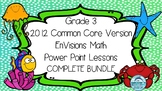Grade 3 EnVisions Math Common Core Inspired Complete Power Point Lessons BUNDLE