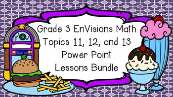 Grade 3 EnVisions Math Common Core Topic 11 12 & 13 Inspired Power Point BUNDLE