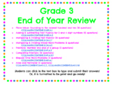Grade 3 End of Year Math Review For Google Classroom/ Dist