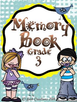 Grade 3 End of Year Memory Book!