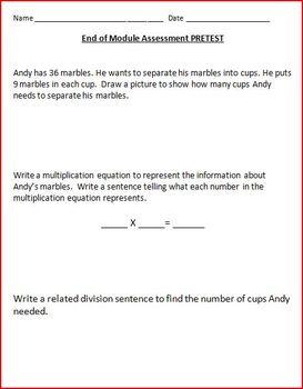 Grade 3 EngageNy Math Module 1 End of Module Assesment Task Pretest