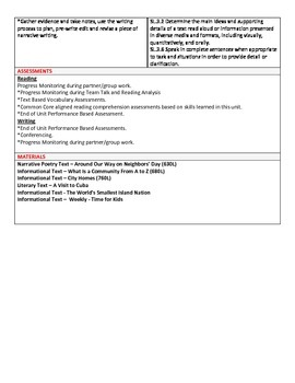 Grade 3 English Language Arts curriculum map for Ready Gen for Unit 2 Module B
