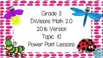 Grade 3 Envisions Math 2.0 Version 2016 Topic 10 Inspired Power Point Lessons