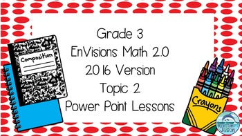 Grade 3 Envisions Math 2.0 Version 2016 Topic 2 Inspired Power Point Lessons