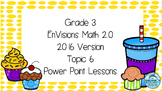 Grade 3 Envisions Math 2.0 Version 2016 Topic 6 Inspired Power Point Lessons