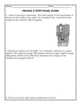 Grade 3 - Eureka End of Module 2 Study Guide