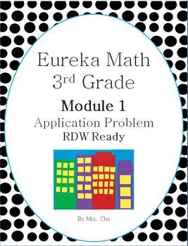 Grade 3 Eureka Math Module 1 Application Problems for Lessons 1-21