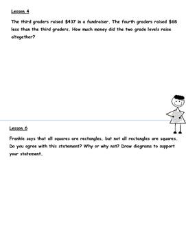 Grade 3  Math Module 7 Application Problems Student Workbook