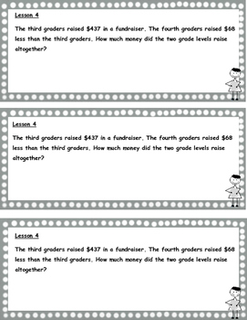 Grade 3  Math Module 7 Application Problems to cut and paste into notebook