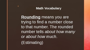 Grade 3 Everyday Math 1.4 (rounding)