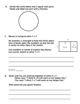 Grade 3 Everyday Math (2015) Unit 5: Mult/Fractions Study Guide/Pretest