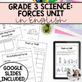Grade 3 Science: Forces and Movement Unit (English Version