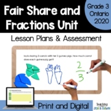Fractions - COMPLETE UNIT (Grade 3 Ontario Math Three Part
