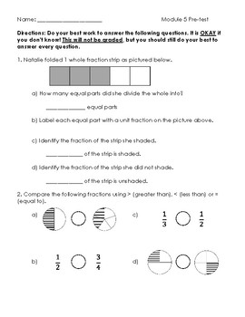 Grade 3 Fractions Assessment & Worksheets | Teachers Pay ...