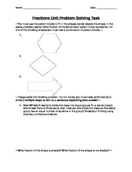 Grade 3 Fractions Test!