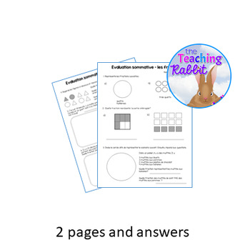 Grade 3 Fractions Test (French)