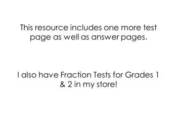 Grade 3 Fractions Test