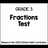 Fractions Test (Grade 3)