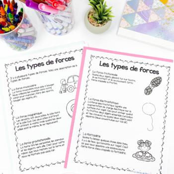 Grade 3 French Forces and Movement Unit / Les forces et le mouvement