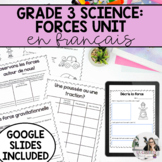 Grade 3: French Forces and Movement Unit / Les forces PRIN