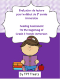 Grade 3 French Immersion Reading Assessment