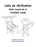 Grade 3 French Immersion Sight Word Assessment Checklist