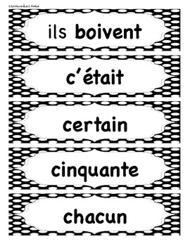 Grade 3 French Immersion Sight Words Word Wall
