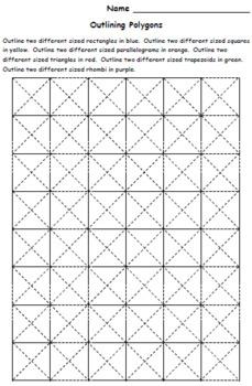 Grade 3 Geometry Activities, Games and Worksheets