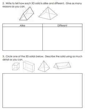 Grade 3 Geometry Unit Test