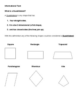 Grade 3 - Geometry for Students with ADD or ADHD  - Common Core