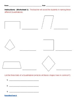 Grade 3 - Geometry for Students with Autism Spectrum  - Common Core