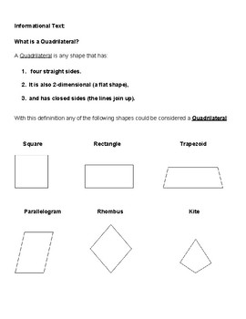 Grade 3 - Geometry for Students with Learning Disabilities  - Common Core