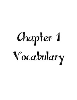 Grade 3 Go Math Chapter 1 - 12 Vocabulary