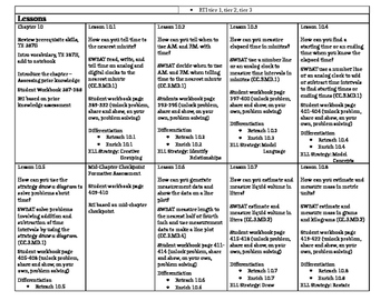 Grade 3 - Go Math! Chapter 10 Lesson Plan