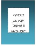 Grade 3 Go Math Chapter 11 Vocabulary