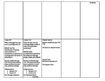 Grade 3 - Go Math! Chapter 4 Lesson Plans
